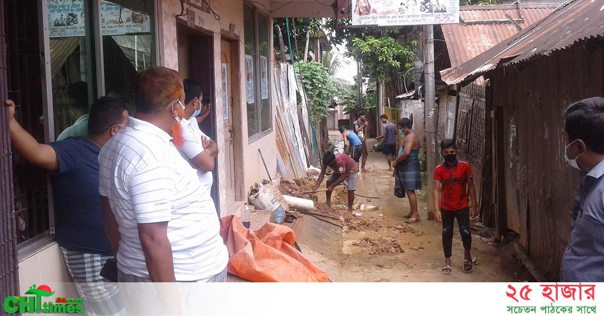 রাস্তার উপর টিউবওয়েল স্থাপনের চেষ্টাঃ বন্ধ করলো রাঙামাটি জেলা প্রশাসন
