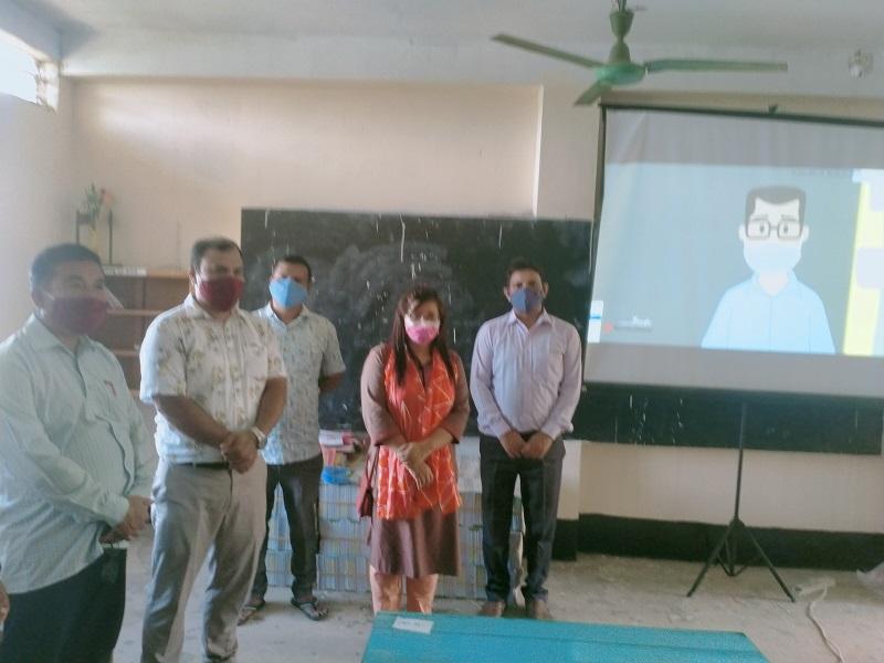 নানিয়ারচরে বিদ্যালয় পরিদর্শনে শিউলি রহমান