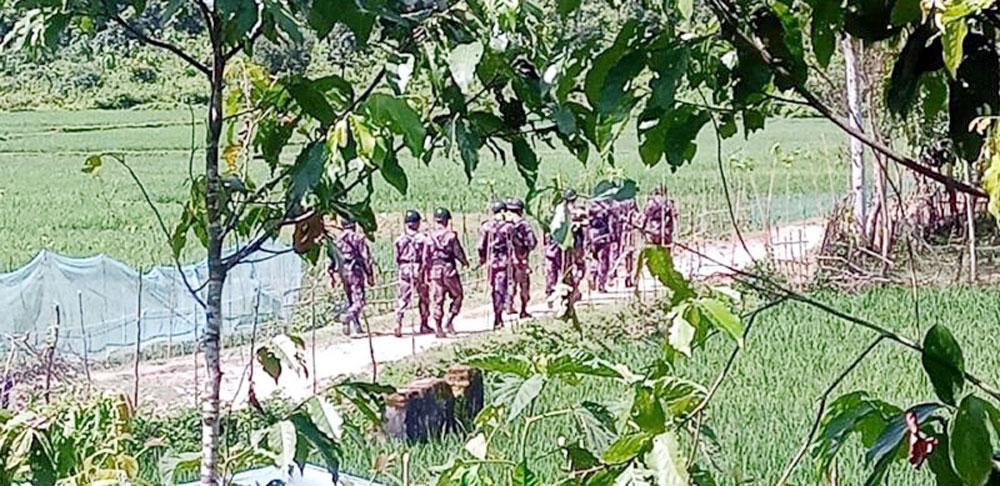 নাইক্ষ্যংছড়িতে টহলরত নিরাপত্তাবাহিনীর উপর জেএসএস'র সশস্ত্র হামলা